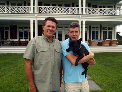 Bill with author Jay McInerney